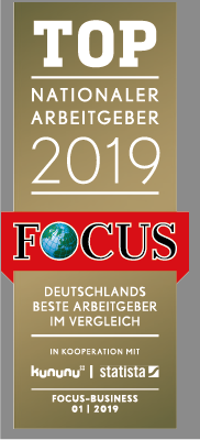 Focus - Top nationaler Arbeitgeber 2019